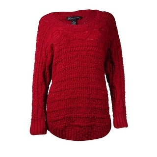 INC International Concepts Women's Solid Cable Knit Sweater (Option: Xxl)