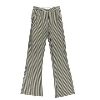 Catherine Malandrino Womens Striped Flare Leg Casual Pants - 4