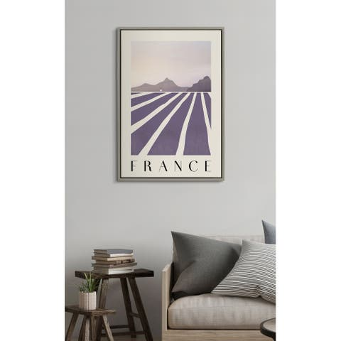 Kate and Laurel Sylvie Travel Poster France Framed Canvas by Chay O.