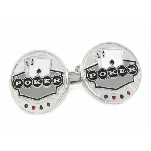 Poker Chip Lucky Casino Cards Las Vegas Cufflinks