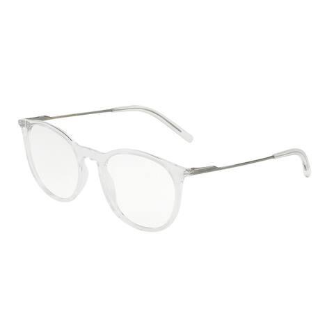 Dolce & Gabbana DG5031 Men's Crystal Frame Demo Lens Eyeglasses
