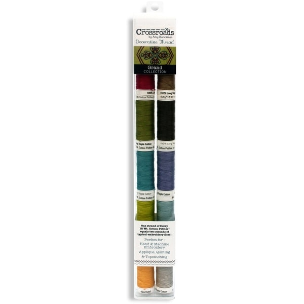 Crossroads Sulky Cotton Petites 12 Weight 10/Pkg-Grand Collection
