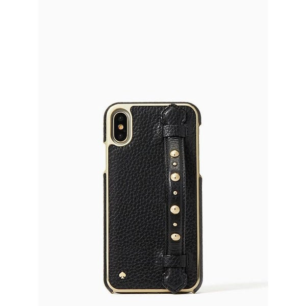 d67a1c9bb Kate Spade York Studded Hand Strap Stand iPhone X / iPhone Xs Case, Black