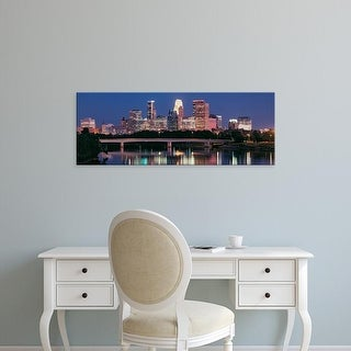 Easy Art Prints Panoramic Image 'Minneapolis, Mississippi River, Hennepin County, Minnesota' Canvas Art