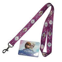 Disney Frozen Elsa & Anna Purple Lanyard-1 count
