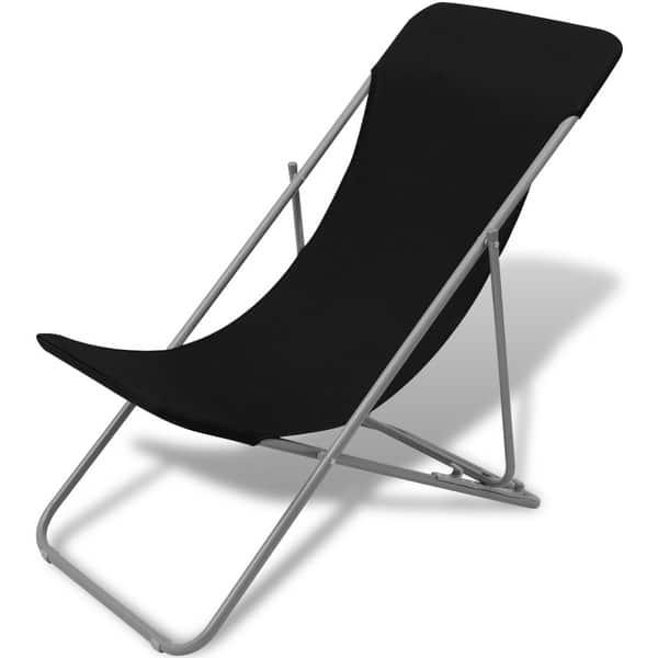 Vidaxl Folding Beach Chairs 2 Pcs