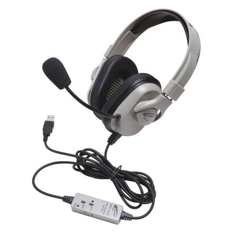 Califone HPK-1010 Titanium Washable Headset with USB Cord