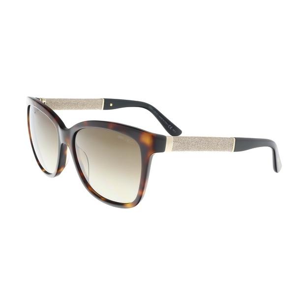 8a7516085ec Shop Jimmy Choo Cora S 0FA5 Dark Havana Gold Square Sunglasses ...