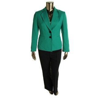Evan Picone Womens Madison Ave 2PC Lined Pant Suit - 4