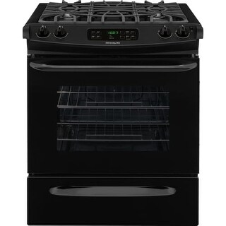 Frigidaire FFGS3025P 30 Inch 4.5 Cu Ft. Slide-In Gas Range with Continuous Cast Iron Grates, Sealed Gas Burners, and