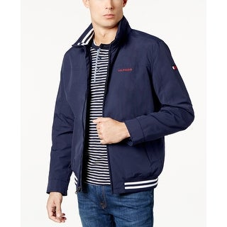 Tommy Hilfiger Men's Regatta Windbreaker with Navy Blazer Heather Size Large