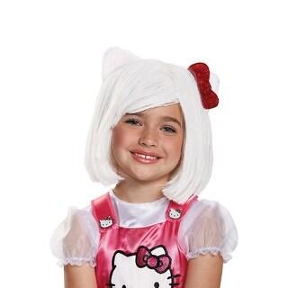 Disguise Hello Kitty Child Wig - White