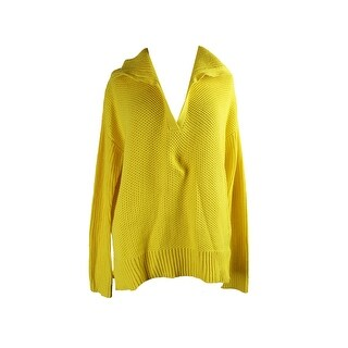 Lauren Ralph Lauren Yellow Textured Sweater Tunic L
