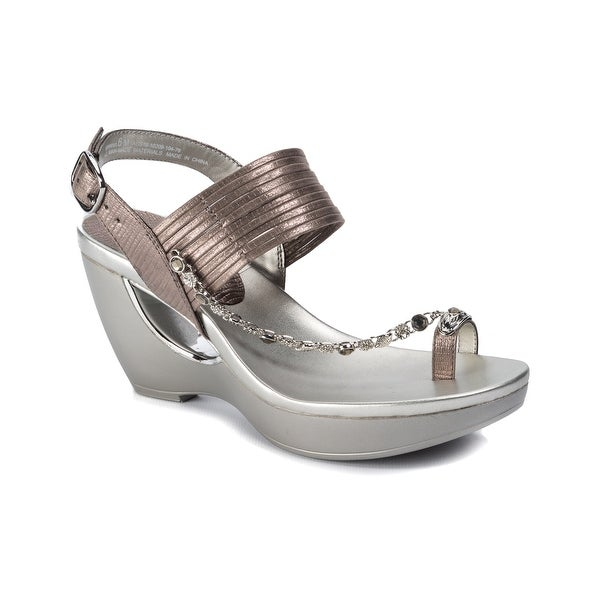 3c15b8845e82 Shop Andrew Geller ARRIANA Women s Sandals Pewter - Free Shipping ...
