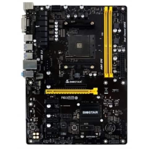 Biostar Motherboard TB350-BTC AMD A-series AM4 B350 up to 32GB DDR4 DVI-D PCI Express SATA ATX Retail