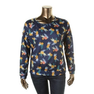 Rebellious One Womens Juniors Pullover Top Pattern Long Sleeves