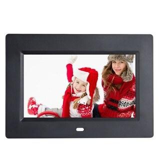 Costway 7'' IPS LCD Digital Photo Frame Calendar Clock Function MP3 Photo Video w Remote