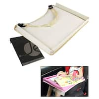JAVOedge Water Resistant Baby Lap Table for Car, Table, Activity Desk for Kids - beige