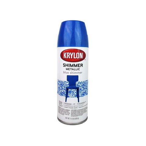3925 krylon shimmer metallic spray paint 11 5oz blue