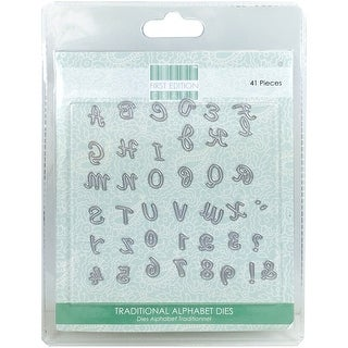 First Edition Dies 41/Pkg-Traditional Alphabet