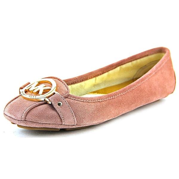 Michael Michael Kors Fulton Moc Women  Square Toe Suede Pink Flats