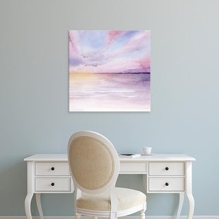 Easy Art Prints Grace Popp's 'Pale Sunset II' Premium Canvas Art