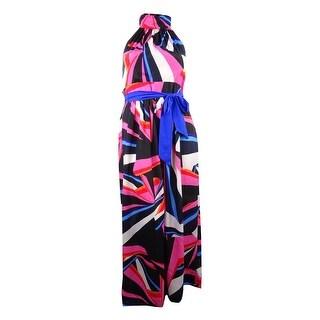 INC International Concepts Women's Maxi Sleeveless Dress - Multi Print - 16