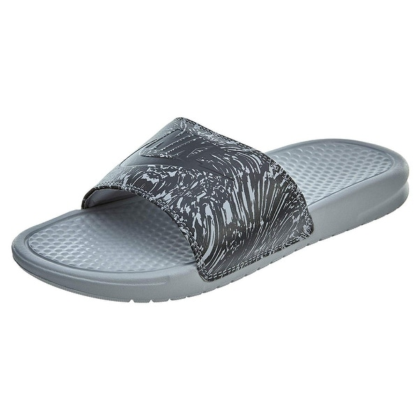 f60589833 Shop Nike 631261-005  Benassi Mens Wolf Grey Anthracite Sandal (12 D ...