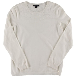 Tommy Hilfiger Womens Beaded Knit Pullover Sweater - L