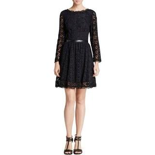 Joie Womens Party Dress Lace Faux Trim