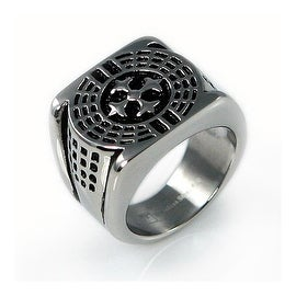 Stainless Steel Men's Legion Cross Ring