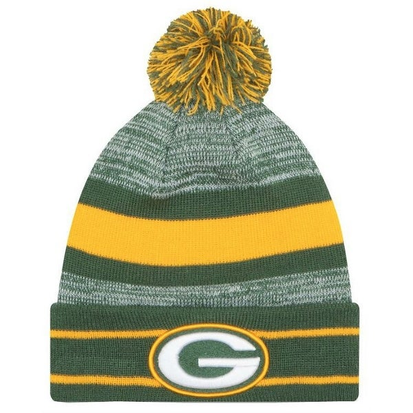 e6e6c96756d Shop New Era 2019 NFL Green Bay Packers Cuff Pom Knit Hat Beanie Stocking  Winter - Free Shipping On Orders Over  45 - Overstock - 27994366