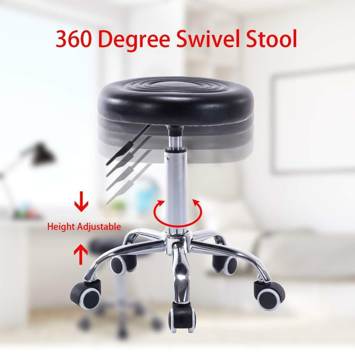 Wondrous Gymax Set Of 2 Black Adjustable Hydraulic Rolling Swivel Stool Salon Massage Spa Caraccident5 Cool Chair Designs And Ideas Caraccident5Info