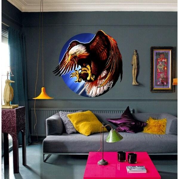 Bald Eagle Wall Decal, Eagle Sticker, Eagle wall art, Eagle Decoration. Opens flyout.