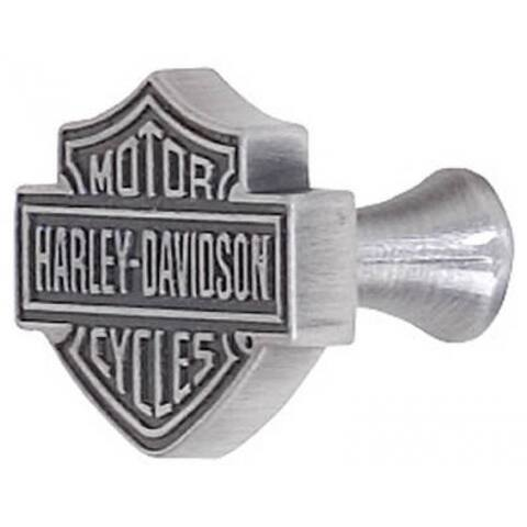 Harley Davidson Bar & Shield Design Cabinet Knob, Antique Pewter