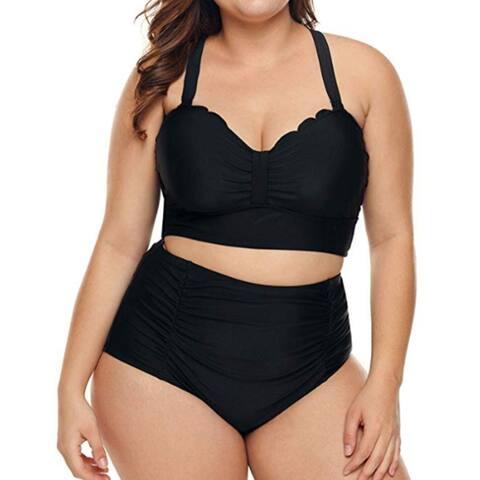 Womens Strappy High Waist Bikini Swimsuit Bathing Suit M-Xxxl