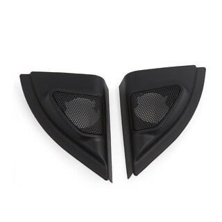 2 Pcs Plastic Black Car Horn Dustproof Cover Mesh for 2013 Toyota Vios Yaris