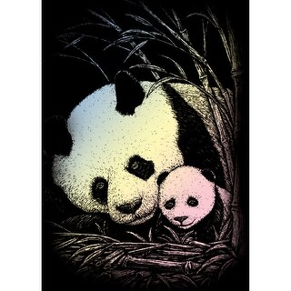 "Holographic Foil Engraving Art Mini Kit 5""X7""-Bamboo Panda"