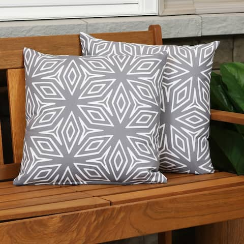 Sunnydaze 2 Square Outdoor Throw Pillow Covers - 17-Inch