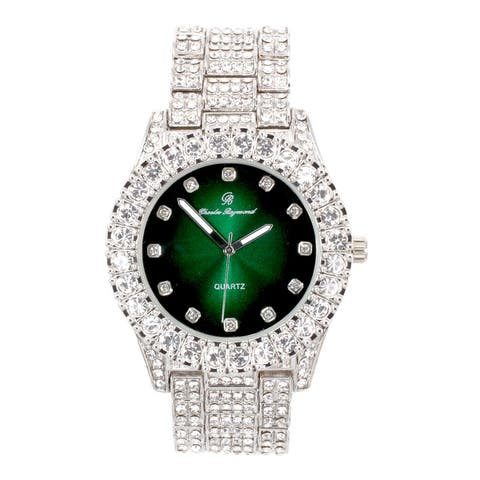 Rhinestone Watch Bling'ed Out with Color Gems Diamonds on Trim Matching Watch Dial