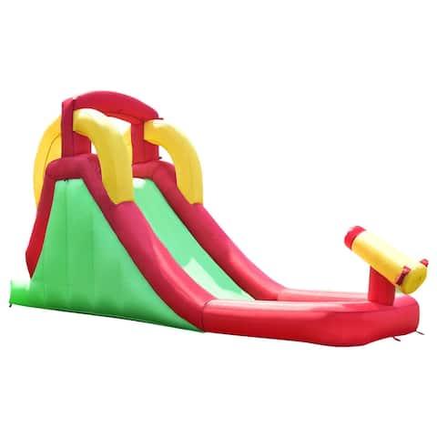 Costway Inflatable Moonwalk Water Slide Bounce House Bouncer Kids