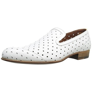 A. Testoni Mens Leather Perforated Smoking Loafers - 12 medium (d)