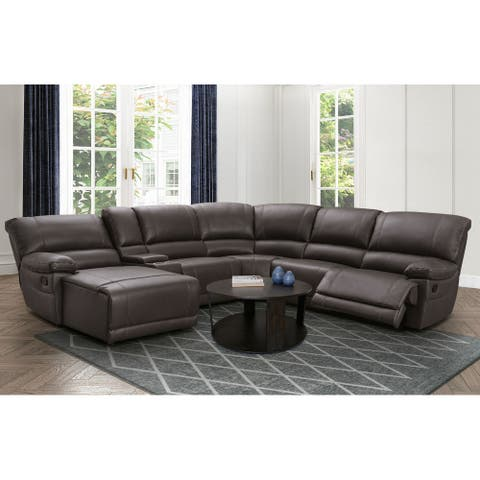 Abbyson Cooper Manual Reclining Sectional with Chaise