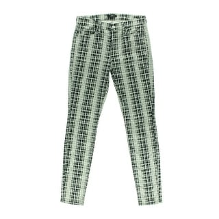7 For All Mankind Womens Skinny Pants Printed Mid-Rise