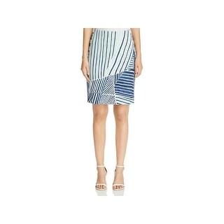 Nic + Zoe Womens A-Line Skirt Printed Above Knee