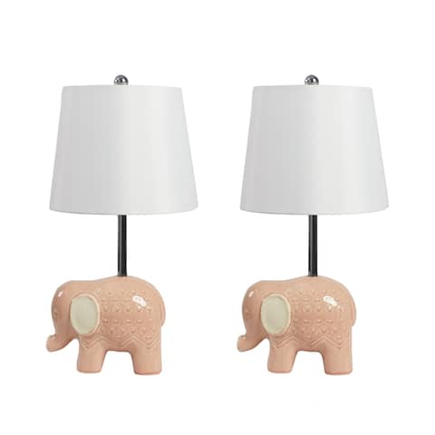 Set of 2 Emmie Elephant Table Lamps