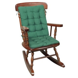 Two Piece Rocking Chair Cushions - Hunter Green