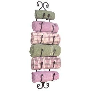 Large Adirondack Towel Rack - Charcoal