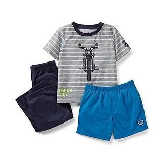 Carter's Baby Boy's 3 Piece Tough Guy Pajama Set 12 Months - Grey/Blue