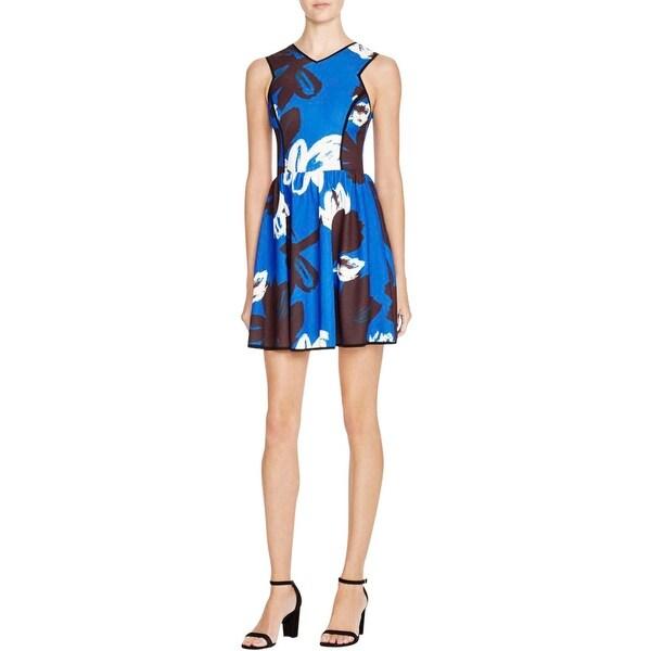 Aqua Womens Casual Dress Printed Textured